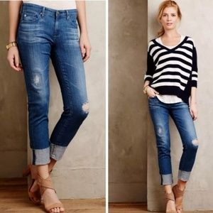 AG The Stevie Cuff Slim Straight Jeans G93